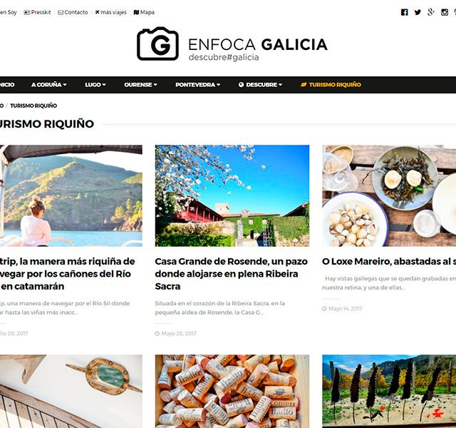 Enfoca Galicia secciones internas