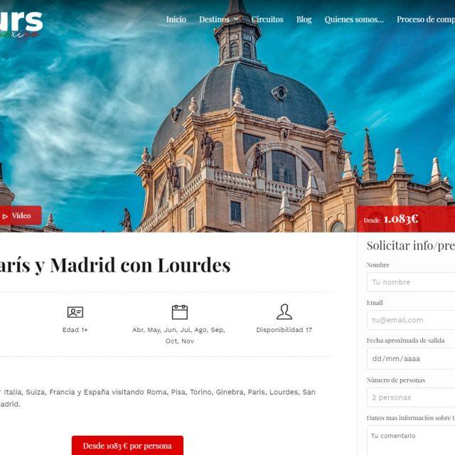 Diseño web Agencia de viajes